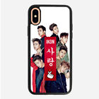 iKon Kpop Korea iPhone 8 Plus 7 Plus cover X XS iPhone 6 5C 6S 5S SE case HTC M9