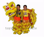 Christmas Pur Lion Dance Mascot Costumes Pure Wool Southern Lions For Two Kids #