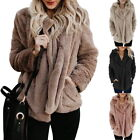 Warm Womens Fleece Tops Casual Loose Zipper Fur Jacket Furry Plush Outdoop Tops