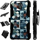 For Alcatel TCL LX A502DL Holster Case Armor Kickstand Phone Cover LuxGuard D4