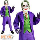Deluxe The Joker Kids Fancy Dress Batman Villian Boys Halloween Costume + Mask