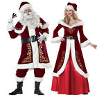 Christmas Santa Claus Cosplay Adult Costume Fancy Dress Party Suit Outfit Xmas