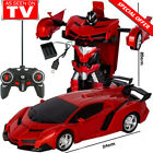 Gesture Sensing Remote Control Robot One-Button Transformation Car Toy Free Ship