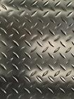 CHECKER - PLATE PVC RUBBER BLACK GARAGE FLOORING MATTING 2M WIDE X 2.5MM THICK