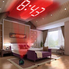 Portable Digital LCD Wall Projection Voice Temperature Display Home Alarm Clock