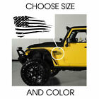 Distressed American USA Flag Decal Sticker Window for Jeep Choose Size & Color