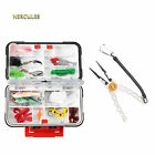 Hercules 30 Compartment Bait Storage Fishing Lure Box Case Sided Hook Tackle Fly