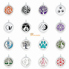 Flower Essential Oil Diffuser Locket Pendant Aromatherapy Necklace Jewelry Hot