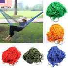 Outdoor Hammock Travel Camping Net Mesh Nylon Rope Bed Portable Hang Garden