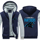 Carolina Panthers Fans Hoodie Fleece zip up Coat winter Jacket warm Sweatshirt on eBay