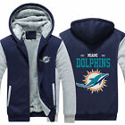 MIAMI DOLPHINS Sweater Zipper Thicken Hoodie pullover Jacket Winter Warm Coat on eBay