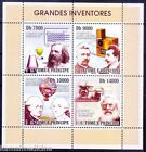 Inventors, Dmitri, Lumiere ,Morse, Photgraphy, Aviation, S. Tome MNH SS