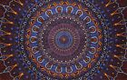 """Psychedelic 3-D Tapestry Cotton Wall Hanging 90"""" x 60"""" Single Multi Color"""