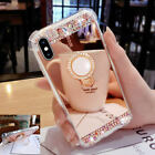 New Diamond Ring Holder Mirror Phone Case Cover For iPhone XS MAX XR X 6S 7 8