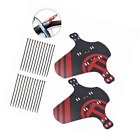KOBWA Mountian Bike Fender, 2 Pcs Bicycle MTB Mudguard Front and Rear Light Cycl