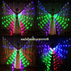 Rechargeable LED isis wings Fast Free Ship belly dance cosplay butterfly prop