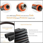 Garden Premium Rubber Heavy Duty 5/8-in x 3-100 FT Feet Black Water Hose Hybrid
