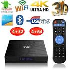 4G+32G/64G T9 Android 8.1 TV Box Quad Core 2.4G WiFi Bluetooth 4K Media Player