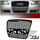 For+2005%2D2008+Audi+A6%2FS6+C6+Black+Badgeless+Style+Front+Hood+Bumper+Grille+Guard