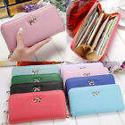 Women Fashion Lady PU Leather Zip Wallet Clutch Purse Long Card Holder Handbag image