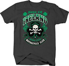 Sons of Ireland Motorcycle Club Hooligans Skull T shirt for men