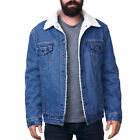 Внешний вид - Alpine Swiss Mens Sherpa Lined Denim Jacket Classic Button Up Jean Trucker Coat