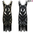 Ro Rox Great Gatsby Costume 1920's Sequin Tassel Cocktail Party Flapper Dress