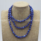 New Natural 8-9mm Blue Baroque tahitian pearl beads Gemstone necklace 30-60''AAA