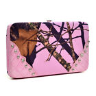 Pink Mossy Oak Camo Clutch Wallet, Licensed Authentic Ladies Camouflage