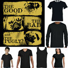 The Good Bad  and Pugly Funny Pug T-Shirt Dog Puppy Owner Breed Pet