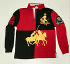 MENS RALPH LAUREN POLO RUGBY LONG SLEEVE SHIRT FREE SHIPPING