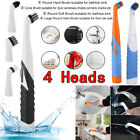 4in1 Electric Sonic Scrubber Cleaning Brush Household Brush for Bathroom Kitchen