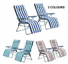 New Garden Outdoor 2 Sun Recliner Chairs Reclining Lounger With Cushion 3 Colors