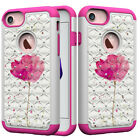 Bling diamonds Shockproof cartoon 2in1 hard soft hybrid back phone case cover #1