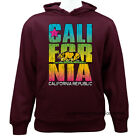 California Republic Cali Bear Casual Graphic Pullover Hoodie