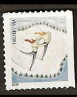 US 4941 Winter Fun Skaters forever single from ATM booklet 18 MNH 2014