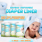 Naturally Natures Bamboo Disposable Diaper Liners 4PK 400 Sheets Gentle and and