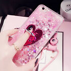 Dynamic Liquid Glitter Quicksand Soft bumper back Phone Case Cover & Lanyard #J