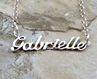 Sterling Silver Name Necklace -Gabrielle- on Rolo Chain Your Choice Length -1184