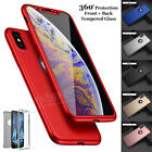 Case for iPhone 8 7 6s 5s Plus XR XS Max Cover Shockproof Hybrid Glass Protector