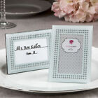 24-70 White Frosted Glass Picture / Place Card Frame - Wedding Party Favor