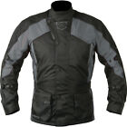 Akito Python Mens Black Grey Textile Waterproof Motorcycle Jacket New