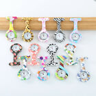 Arabic Numerals Round Dial Silicone Nurses Brooch Tunic Fob Pocket Watch Tasty