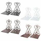 1 Pair Portable Metal Bookends Book Stand Holder Rack Shelf For Home Office