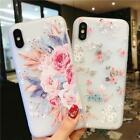 Cute Real Rose Flower Soft TPU Phone Case for iPhone XR XS MAX 5 5S 6S 7 8Plus