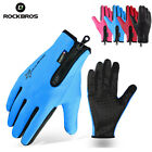 RockBros Cycling Bike Full Finger Fleece Gloves Thermal Warm Touch Screen Glove