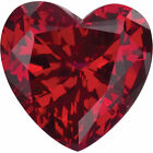 Heart Shaped Faceted GENUINE CHATHAM LAB CREATED RUBY Loose Gemstone