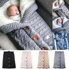 Newborn Infant Baby Blanket Knit Crochet Winter Warm Swaddle Wrap Sleeping Bag