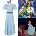 Peter Pan Wendy Costume Cosplay Dress Blue Night Gowns Party Long Lolita Dress