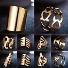 Women Men Gold Ring Geometric Heat Open Knuckle Ring Jewelry Party Gifts New